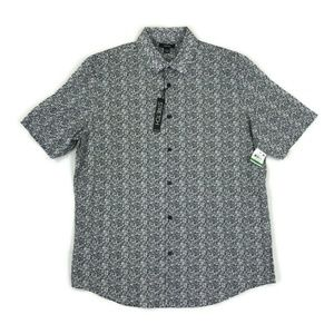 Alfani Mens Button Shirt Casual Stretch Large